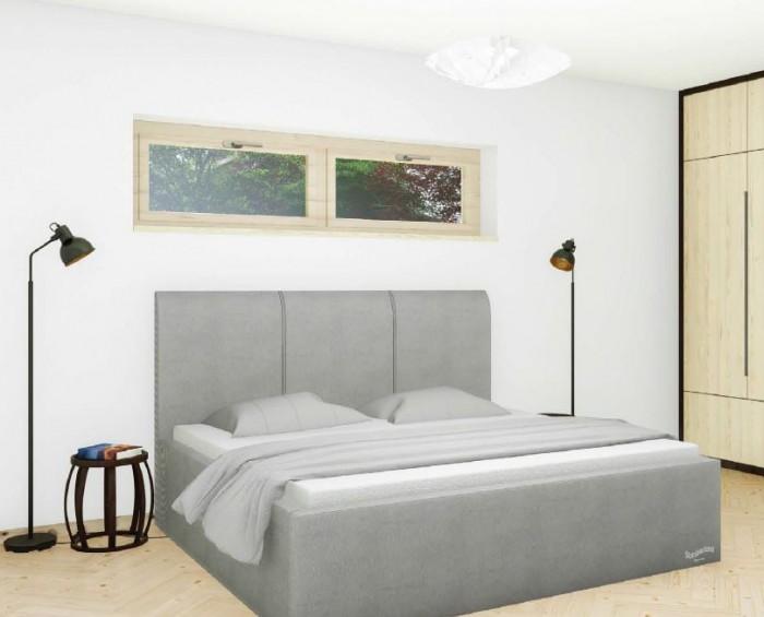 Slumberland Dover Mistral čalouněná postel s úložným prostorem