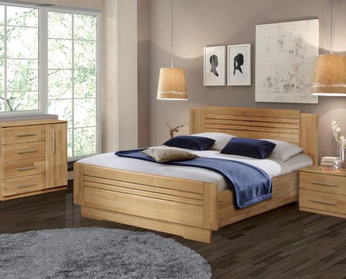 Vykona masivní buková postel Sandra Lux