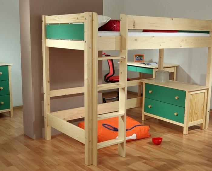 Etážová postel BELLA VYSOKÁ NATIVE B0388 Gazel zelená