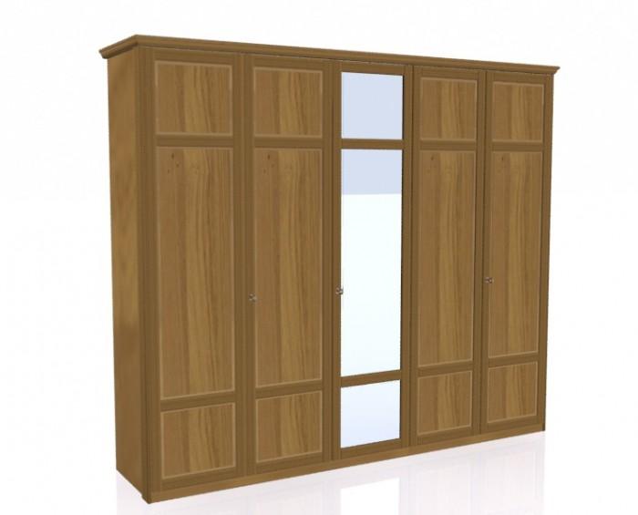 Jitona Piano šatní skříň, 5 dveří, 1 zrcadlo
