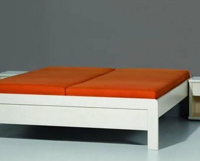 BMB Karlo postel s nízkými čely LTD imitace dřeva - OBLÉ ROHY