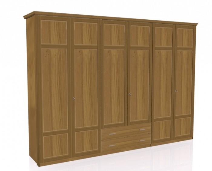 Jitona Piano šatní skříň, 6 dveří, 2 zásuvky