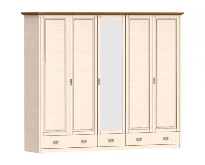 Jitona Country Inn šatní skříň, 5 dveří, 3 zásuvky, 1 zrcadlo