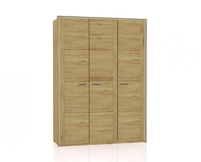 Jitona Keros šatní skříň, 3 dveře, s římsou a lezénami