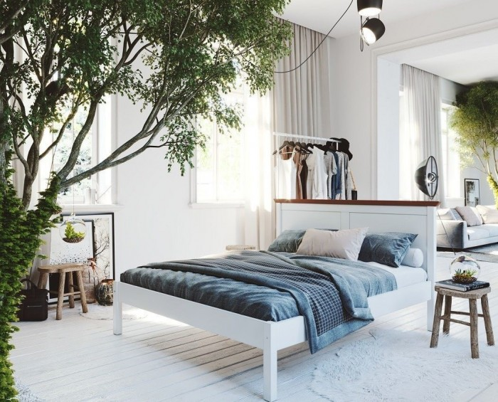Gazel Lagga 180 bílo hnědá postel