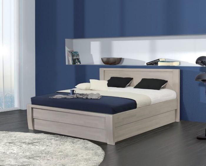 Vykona masivní buková postel Erika výklop s úložným prostorem