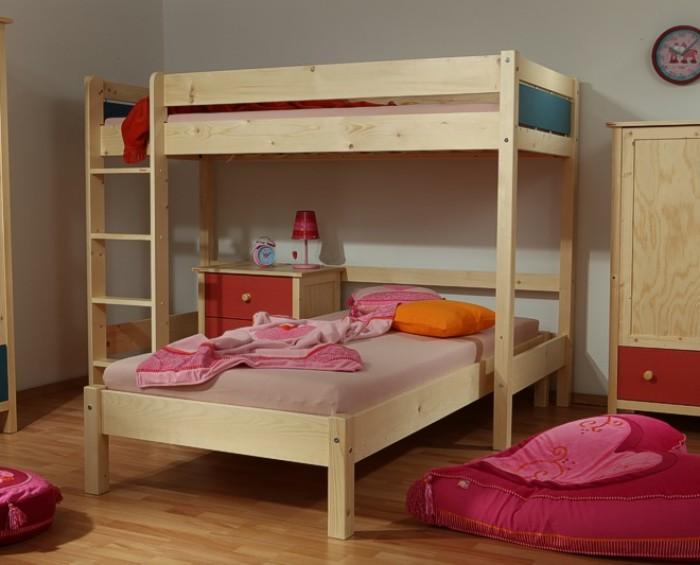 Etážová postel BELLA VYSOKÁ NATIVE / MOLLY Gazel