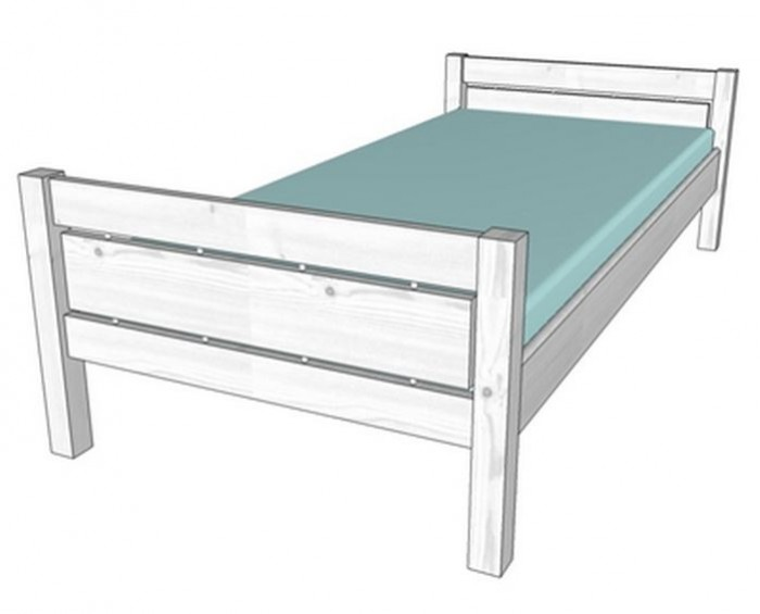 Gazel postel Roxy 90 bílá