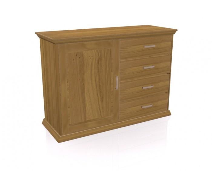 Jitona Piano komoda, 1 dveře, 4 zásuvky