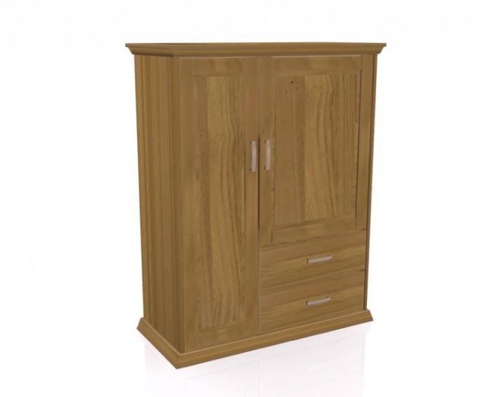 Jitona Piano komoda, 2 dveře, 2 zásuvky, vysoká