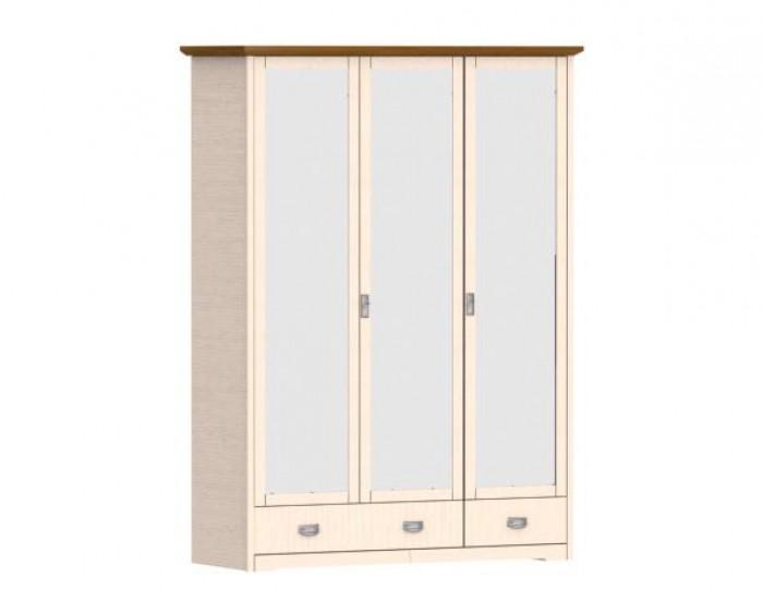 Jitona Country Inn šatní skříň, 3 dveře, 2 zásuvky, 3 zrcadla